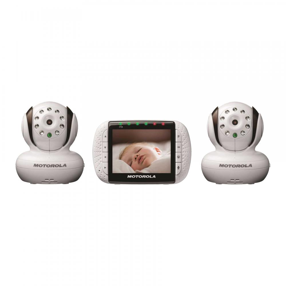 motorola mbp36 remote wireless video baby monitor w 3 5 color screen 2 cameras ebay. Black Bedroom Furniture Sets. Home Design Ideas