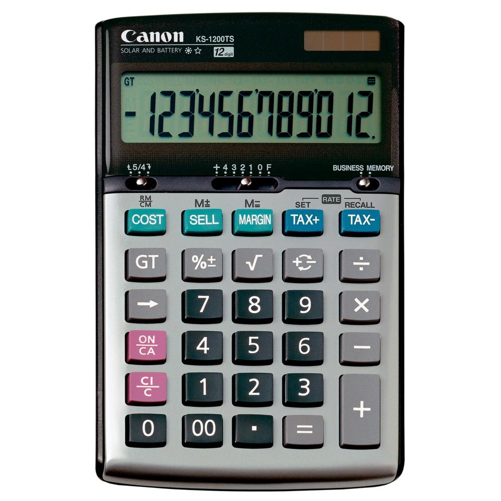 Canon palm printer p1-dhv tax & business calculator, 12 digits | ebay.